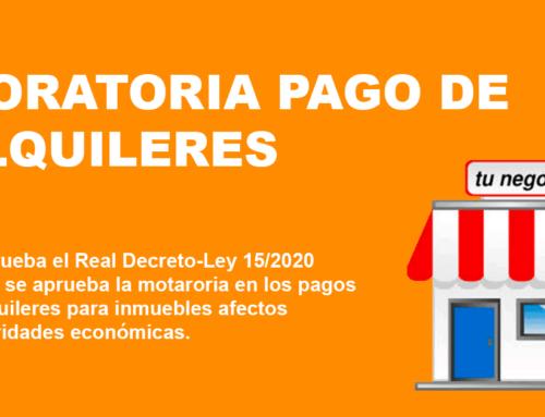 MORATORIA PAGO DE ALQUILER DE LOCALES COMERCIALES